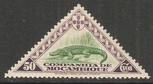 1937 Mozambique Co Scott # 183 Crocodile MH