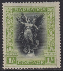 1920 Barbados Victory 1/ issue MLH Sc# 148 CV $22.50 Stk #2