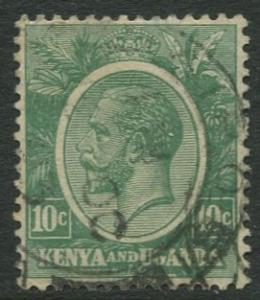 Kenya & Uganda - Scott 21 - KGV Definitive -1922 - Used- Single 10c Stamp