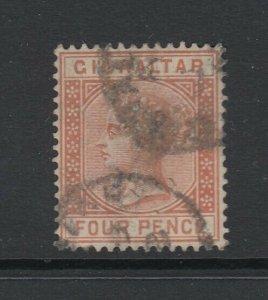 Gibraltar, Scott 16 (SG 12), used