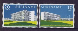 SURINAM/SURINAME 1962 MNH SC.308/09 Deaconess buildings