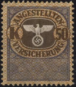 Stamp Germany Revenue WWII 3rd Reich Nazi War Medical Invalid Tax K50 MNG