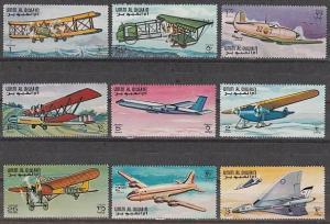 Umm Al Qiwain, Mi cat. 296-304 A. History of Aviation issue. ^