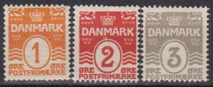 Denmark #57-9 F-VF Unused CV $13.75 (B6350)
