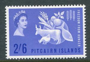 Pitcairn Islands 35 Mint VLH 1963 Freedom From Hunger