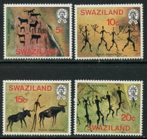 SWAZILAND Sc#285-288,288a 1977 Rock Paintings Complete Set & S/S OG Mint LH & NH