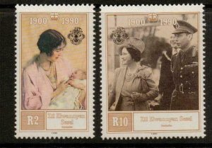 SEYCHELLES-Z.E.S.. SG212/3 1990 90th BIRTHDAY OF QUEEN MOTHER MNH