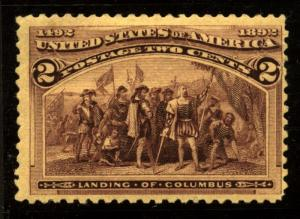 US Scott 231 columbian issue VF Mint LH Beauty