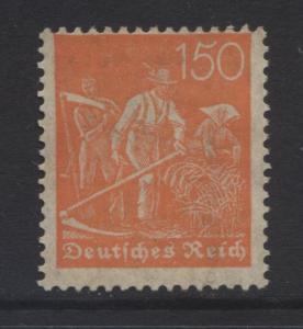 GERMANY. -Scott 148 - Definitives -1921 - VFU - Orange -Single 150pf Stamp