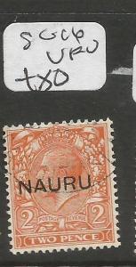 Nauru SG 16 VFU (8coh)
