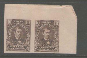 Honduras 1907 Sc 123 Imperf. pair MNH