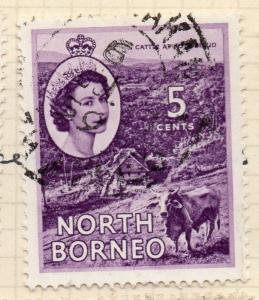North Borneo 1954 Early Issue Fine Used 5c.