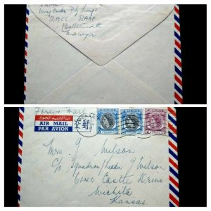 "VERY RARE MALAYA PENANG 1957 ""FORCES MAIL"" COVER SENT BY COMMANDER RAAF TO USA"