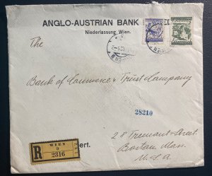 1925 Vienna Austria Anglo Austrian Bank Cover To Boston MA Usa