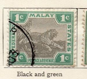 Federated Malay States 1901 Early Issue Fine Used 1c. 173082