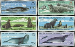 British Antarctic Territory 1983 Sc 96-101 Seal CV $3.80
