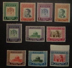 Jordan 324-33. 1955 1f-50f Pictorials, NH