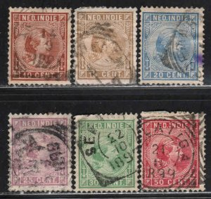 Netherlands Indies # 23-30 ~ Shorth Set 6 of 8 ~ MX, Fair Condition