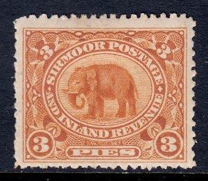 India (Sirmoor) - Scott #11 - MH - Short perfs - SCV $5.45