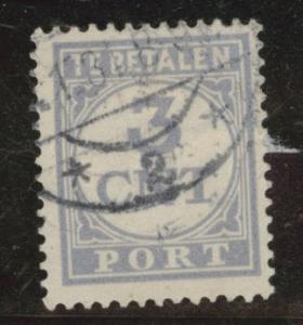 Netherlands Scott J362 used 3c postage due stamp