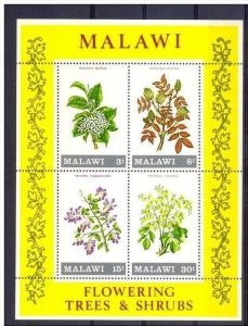 Malawi MH S/S Flowering Trees & Shrubs 1971