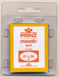 Prinz Scott Stamp Mounts Size 51 x 36 CLEAR Pack of 40