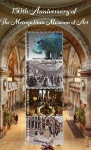 Antigua & Barbuda Architecture Stamps 2021 MNH Metropolitan Museum of Art 4v M/S