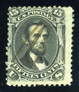 UNITED STATES SCOTT# 77 LINCOLN USED PEN CANCEL AS SHOWN