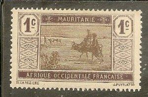 Mauritania   Scott  18   Crossing Desert   Unused