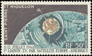 St. Pierre & Miquelon #C26, Complete Set, 1962, Space, Never Hinged