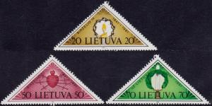 Lithuania - 1991 - Scott #393-95 - MNH - Resistance to occupation