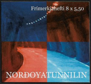 Faroe Is #474a MNH Complete Booklet - Opening of Northoy Tunnel