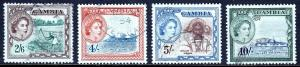 GAMBIA — SCOTT 163//166 — 1953 QEII PICTORIAL HIGH VALUES — USED — SCV $19.00