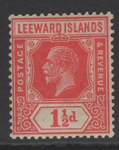 LEEWARD ISLANDS SG63 1926 1½d CARMINE-RED MTD MINT