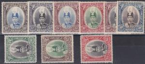 MALAYSIA  KEDAH   1937   S G 60 - 68  SET OF 9  MH  CAT £275