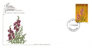 Lesotho, Worldwide First Day Cover, Flowers