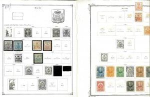 Haiti 1886-1969 M & U Remaindered Pages, Some Mint in Mounts