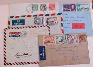 UGANDA  POSTAGE DUE HANDSTAMP 1959 KAMPALA 1935 ENTEBBE,1943 KAMPALA  TO USA