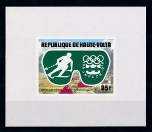 [55723] Burkina Faso 1975 Olympic games Skiing MNH Sheet