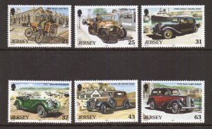 Jersey   #903-908   MNH  1999  classic cars