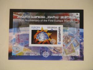 Georgia, 50th Anniversary of the 1st Europa Stamps, Mini Sheet