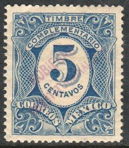 MEXICO-Monterrey 437VAR TII 5¢ GOB. REV PROV OVPT CONSTIT.. UNUSED VF (1263)