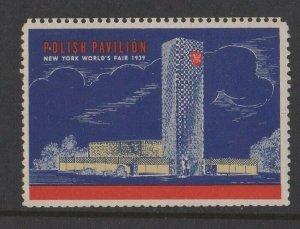 USA - 1939 World's Fair New York Polish Pavilion MH