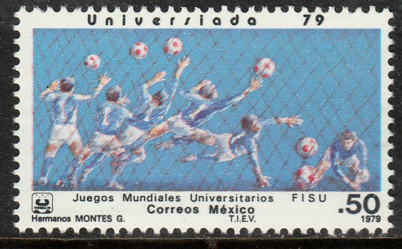 MEXICO 1186, SOCCER University Games. MINT, NH. F-VF.