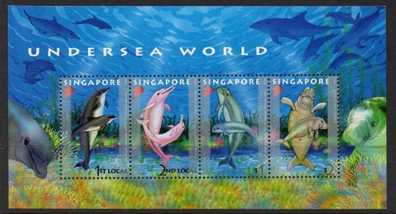 Singapore 2006 Dolphins Dugong SS VF MNH (1175a)
