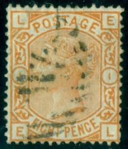 GREAT BRITAIN #73, 8p orange, used, scarce Scott $325.00