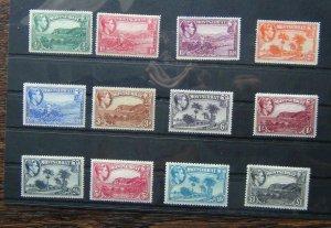 Montserrat 1938 - 48 set to £1 MM (1/2d 1 1/2d 2d 2 1/2d & 3d Unused
