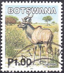 Botswana # 748 used ~ 1p Animal - Kudu