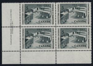 Canada 431 BL Plate Block MNH Charlottetown Conference, Architecture