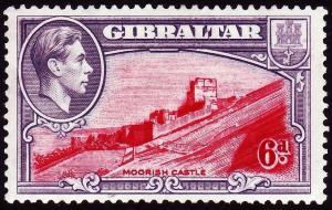 GIBRALTAR SG126, 6d carmine & grey-violet, PERF 13½, LH MINT. Cat £48.